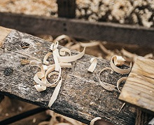 Woodwork shavings